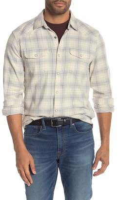 Lucky Brand Plaid Print Snap Button Classic Fit Western Shirt