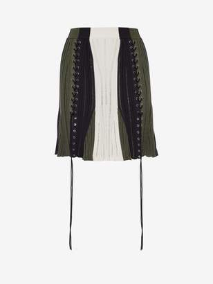 Alexander McQueen Laddered Color-block Skirt