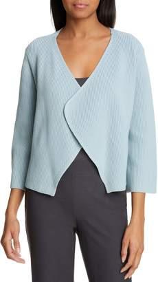 Eileen Fisher Bell Sleeve Organic Cotton Blend Cardigan