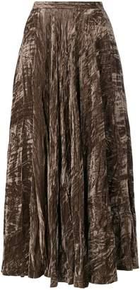 Saint Laurent PRE-OWNED crushed velvet maxi skirt