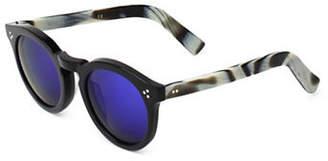 Illesteva Leonard 47mm Black Horn Oxford Sunglasses