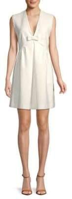 Miu Miu Sleeveless Bow-Tie Shift Dress