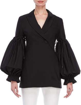 Ellery Hypnotic Black Puff Sleeve Jacket