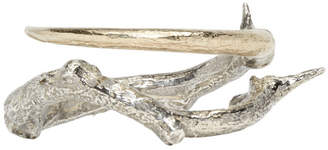 Pearls Before Swine Silver and Gold Thorn Ring