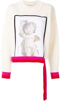 Golden Goose angel print distressed sweater