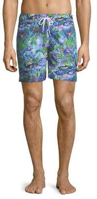 Derek Rose Maui Print Classic-Fit Swim Trunks