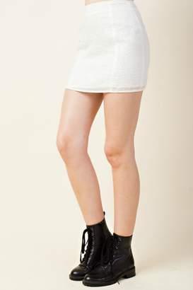 Honey Punch Star Print Skirt