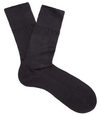 Falke - N°4 Silk Socks - Mens - Navy