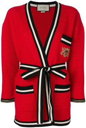 Gucci striped hem cardigan-coat