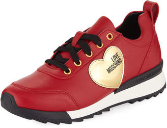 Love Moschino Power Smooth Leather Sneakers