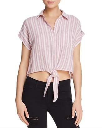 Rails Amelie Cropped Tie-Front Shirt