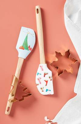 Anthropologie Print Spatula with Stainless Steel Cookie Cutter