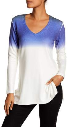 Go Couture V-Neck Tunic Sweater