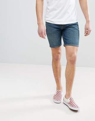Asos DESIGN Denim Shorts In Skinny Vintage Dark Wash
