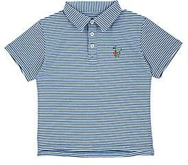 Barneys New York Haas Brothers Xo Kids' Snake-Embroidered Striped Jersey Polo Shirt - Blue Size 2 Yrs