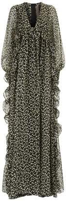 N°21 Star Print Silk Gown