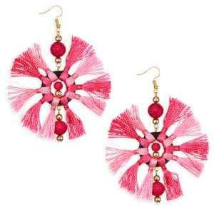 Kenneth Jay Lane Two-Tone Multi-Tassel Fishhook Earrings