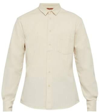Barena Venezia - Dorona Herringbone Twill Cotton Shirt - Mens - Cream