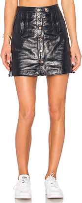 Tommy Hilfiger TOMMY X GIGI Mini Skirt in Black $325 thestylecure.com