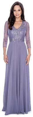 Decode 1.8 - Embellished V-Neck Chiffon A-line Dress 182581 $501 thestylecure.com