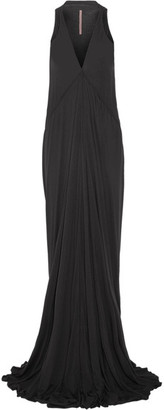 Rick Owens - Stretch-jersey Maxi Dress - Black $835 thestylecure.com