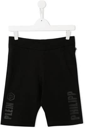 Philipp Plein Junior statement logo jogging shorts