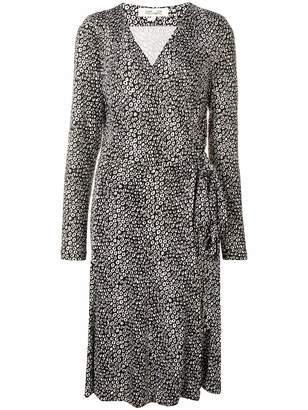 Diane von Furstenberg printed wrap-front midi dress