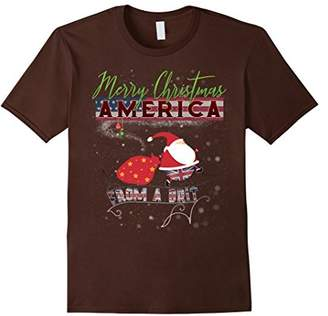 Merry Christmas America T-Shirt from a Brit | Expat UK