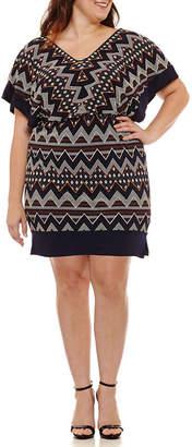Melrose 3/4 Sleeve Blouson Dress - Plus