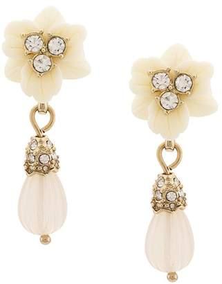 Marchesa floral drop pendant earrings