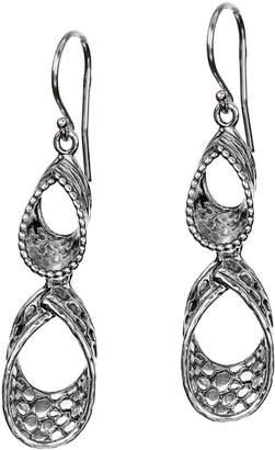 Or Paz Sterling Silver Textured Double Loop Earrings