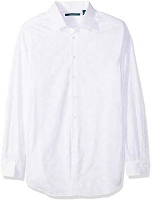 Perry Ellis Big Long Sleeve Multicolor Paisley Print Shirt-Men's