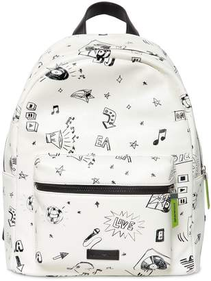 Emporio Armani Printed Faux Leather Backpack