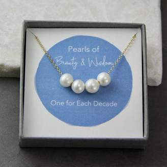 Gaamaa Floating Pearls Special Birthday Necklace