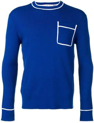 Marni contrasting pocket sweatshirt