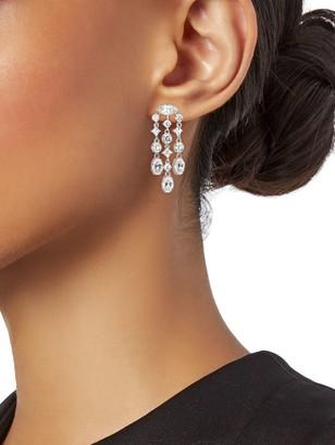 Adriana Orsini Silvertone & Crystal Chandelier Earrings