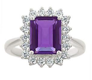 Premier 2.30cttw Emerald-Cut Amethyst Diamond R