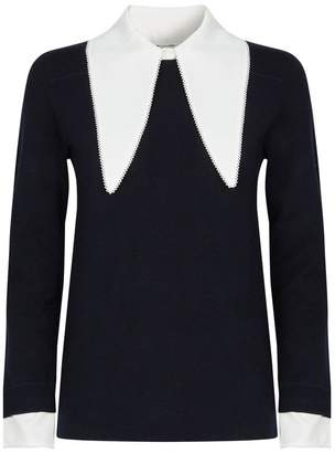 caa2ab708d Womens Sweater With Shirt Collar - ShopStyle UK