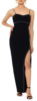 Xscape Evenings Embellished Slit Gown