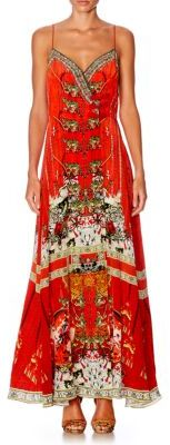 Camilla Chinese Whispers Tiger-Print Silk Dress $600 thestylecure.com