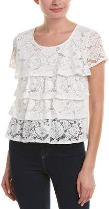 Allison New York Tiered Lace Top