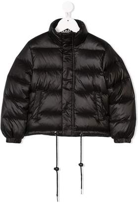 John Richmond Junior logo patch padded jacket