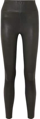 SPRWMN - Leather Leggings - Dark green