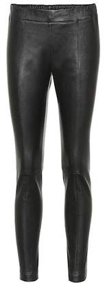Salvatore Ferragamo Skinny leather pants
