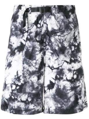 Stussy tie-dye print shorts