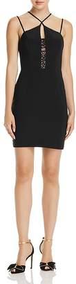 Aqua Cross-Neck Lace Inset Dress - 100% Exclusive