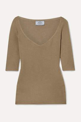 Prada Cashmere And Silk-blend Sweater - Sand
