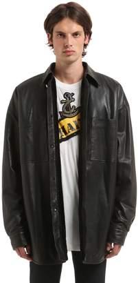 Faith Connexion Oversized Leather Jacket W/ Plush Lining
