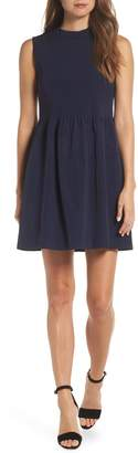 J.Crew High-Neck Stretch Faille Dress