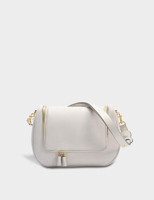 Anya Hindmarch Vere Soft Satchel Bag in Steam Mini Grained Leather